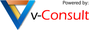 v-consult logo powered by capri healthcare